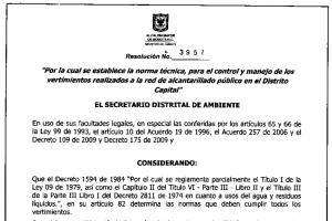 Resolución 3957 de la Secretaría de Ambiente: Trampas de Grasa