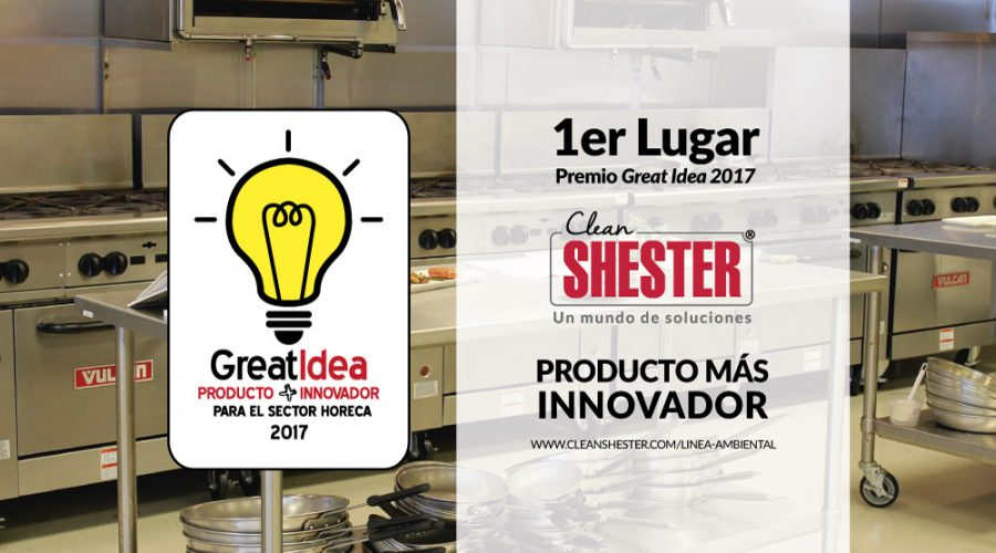 1er Lugar Premio GREAT IDEA – 2017- Clean Shester®