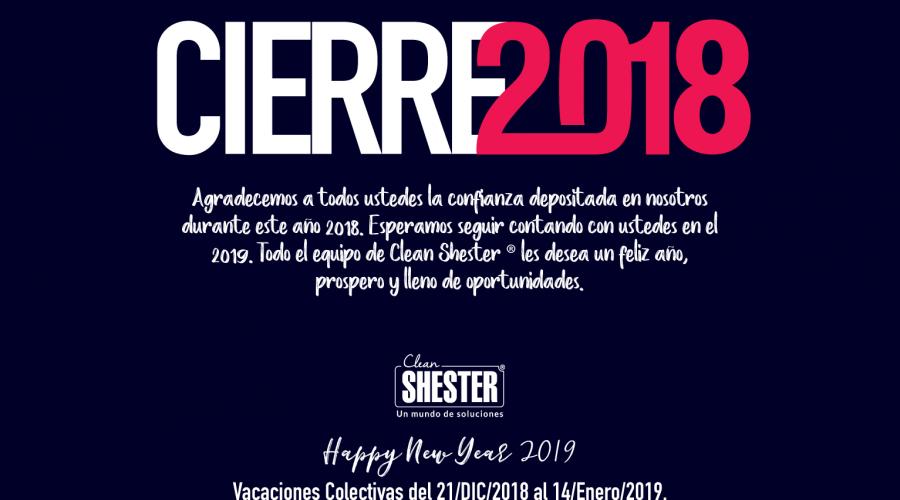 Cierre Fin de Año 2018 – Vacaciones Colectivas del 21/DIC/2018 al 14/Enero/2019
