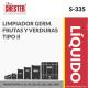 LIMPIADOR GERM. FRUTAS Y VERDURAS TIPO II – S-335